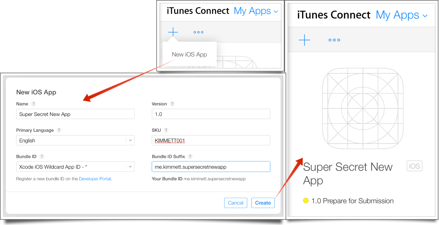 Adding a new app in iTunes Connect